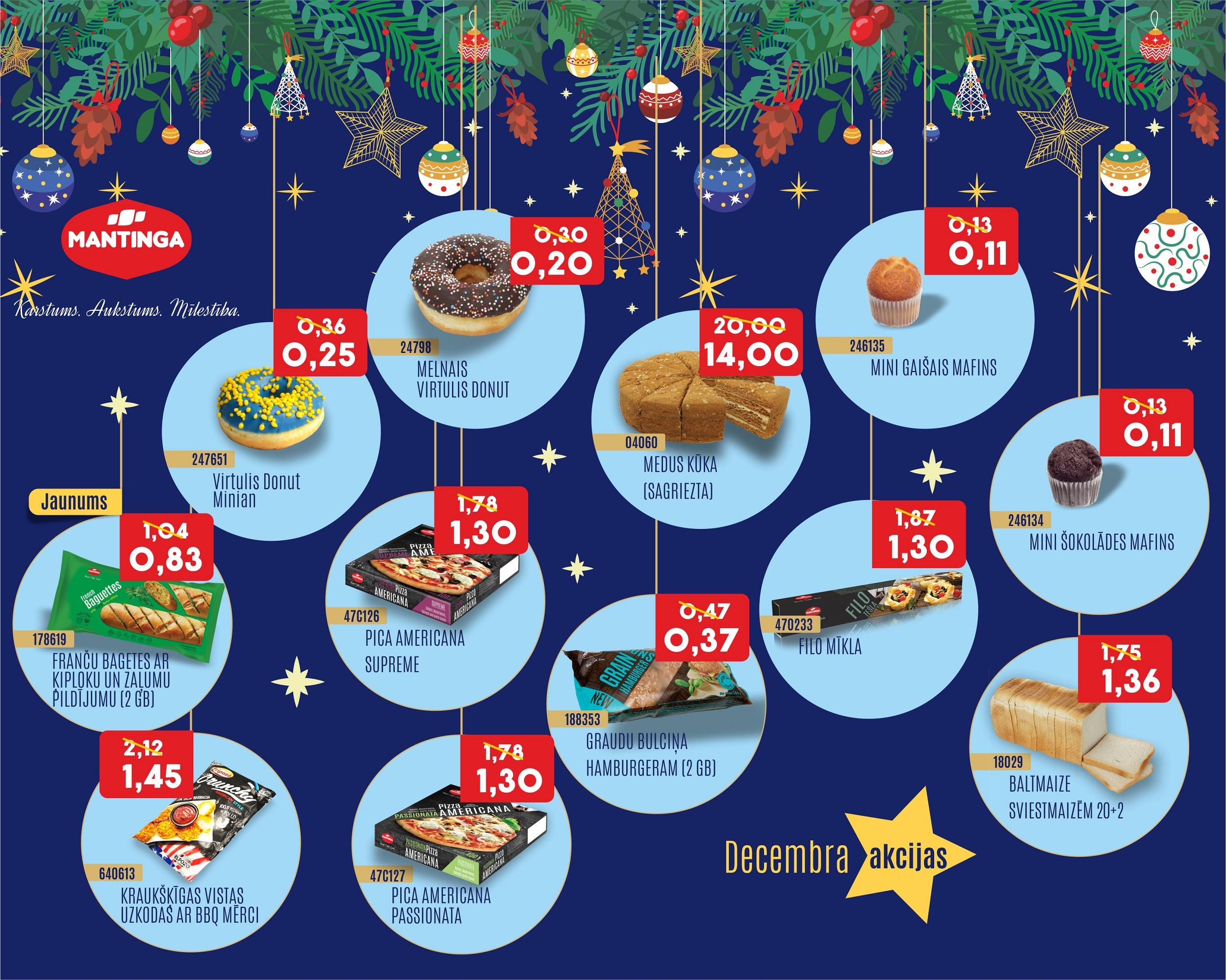 Iepriecini sevi un sev tuvos ar garšīgiem decembra piedāvājumiem!